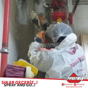 Sprey Poliüretan Köpük Bahçeşehir Saft Dolum uygulaması