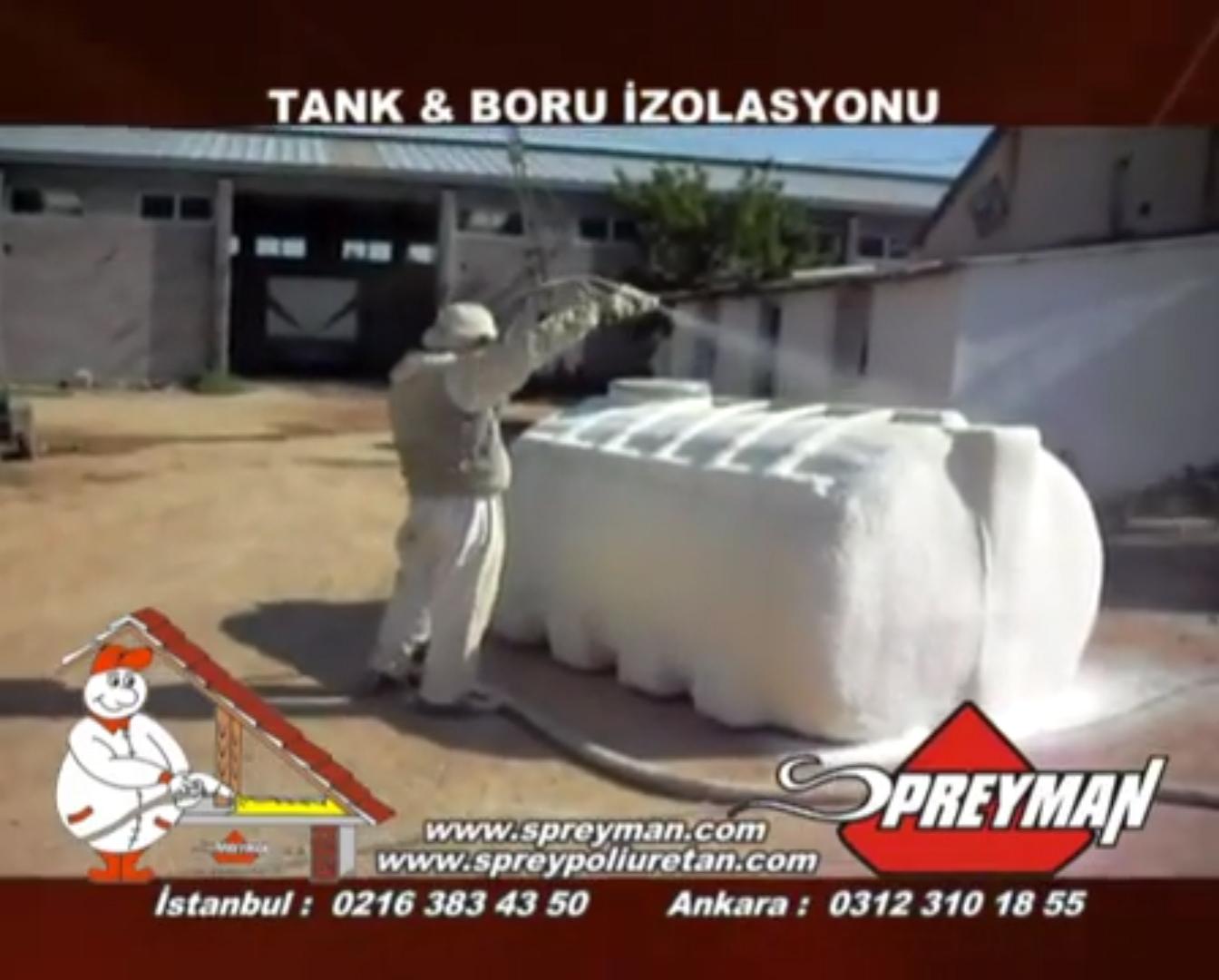Sprey Poliüretan Tank ve Boru İzolasyonu