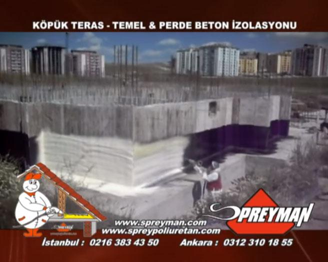 Temel Perde Beton İzolasyonu-Yalıtımı- Spreyman