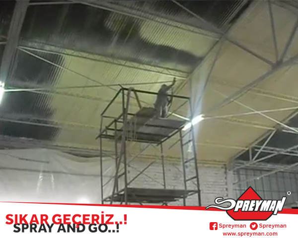 Atermit Çatı Poliüretan Sprey Uygulaması - SPREYMAN