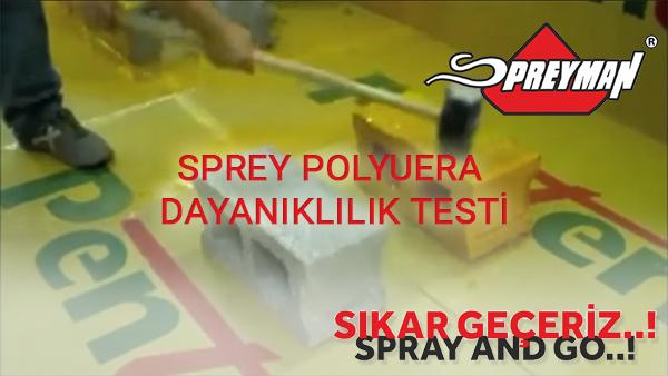 Sprey Polyurea Dayanıklılık Testi - Sprey Su İzolasyonu SPREYMAN