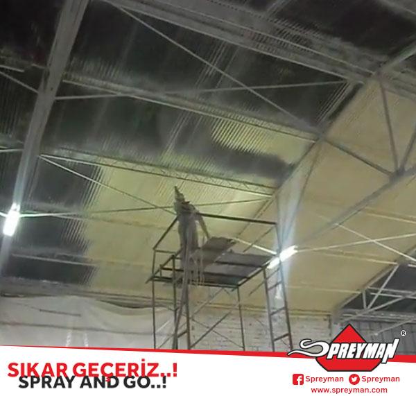 Atermit Çatı Ters Tavan Poliüretan Uygulaması